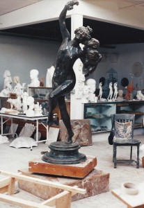 Bacchante and Infant Faun at the Studio